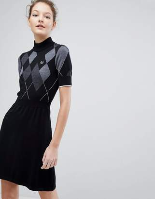 Fred Perry Argyle Knitted Dress