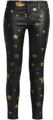 RtA Printed Leather Skinny Pants