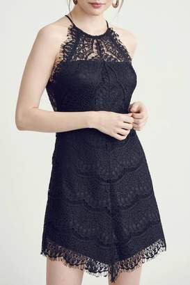 Pretty Little Things Lace Halter Dress
