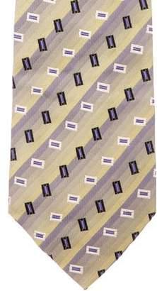 HUGO BOSS Boss by Geometric Print Silk Tie