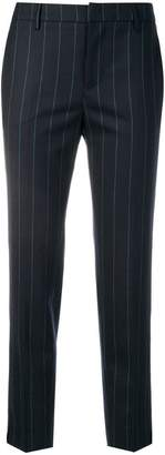 Pt01 pinstripe cropped trousers