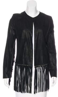 Cleobella Leather Fringe Jacket