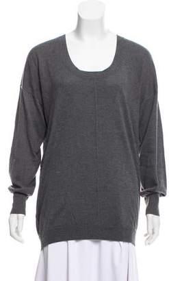 Barbara Bui Silk-Cashmere Scoop Neck Sweater