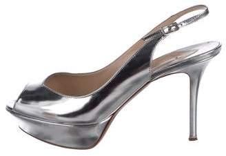 Nicholas Kirkwood Patent Leather Slingback Sandals