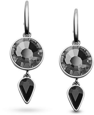 Fossil Black Sparkling Stainless Steel Earrings