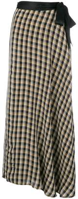 Forte Forte check flared maxi skirt
