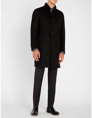 BOSS Buttoned virgin wool and cashmere-blend coat