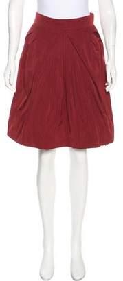 Louis Vuitton Pleated Knee-Length Mini Skirt