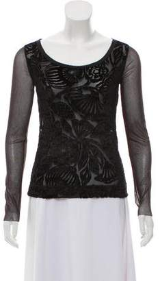Fuzzi Embroidered Long Sleeve Top w/ Tags