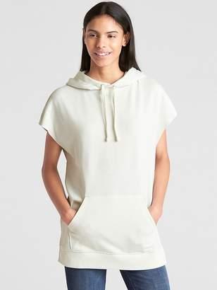 Gap Cut-Off Sleeve Pullover Hoodie Tunic