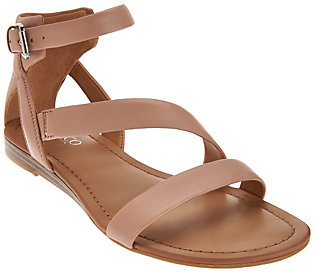 As Is Franco Sarto Leather Multi-strap Sandals - Gracia 2 $33 thestylecure.com
