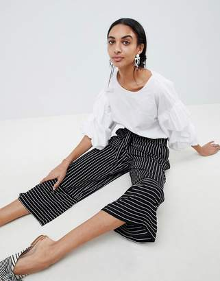 B.young Stripe Panelled Trousers