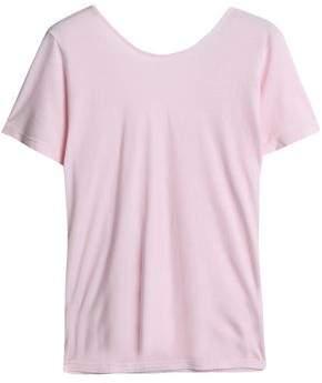 Monrow Wrap-Effect Cotton-Jersey T-Shirt