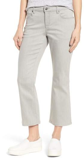Organic Cotton Blend Crop Flare Jeans