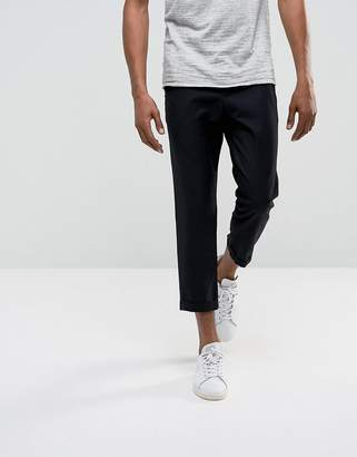 Bellfield Cropped Pants With Pleated Front