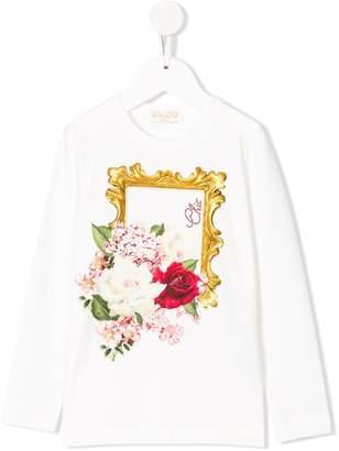 MonnaLisa floral print long sleeve T-shirt
