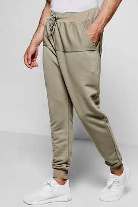 boohoo Reverse Panel Drop Crotch Joggers