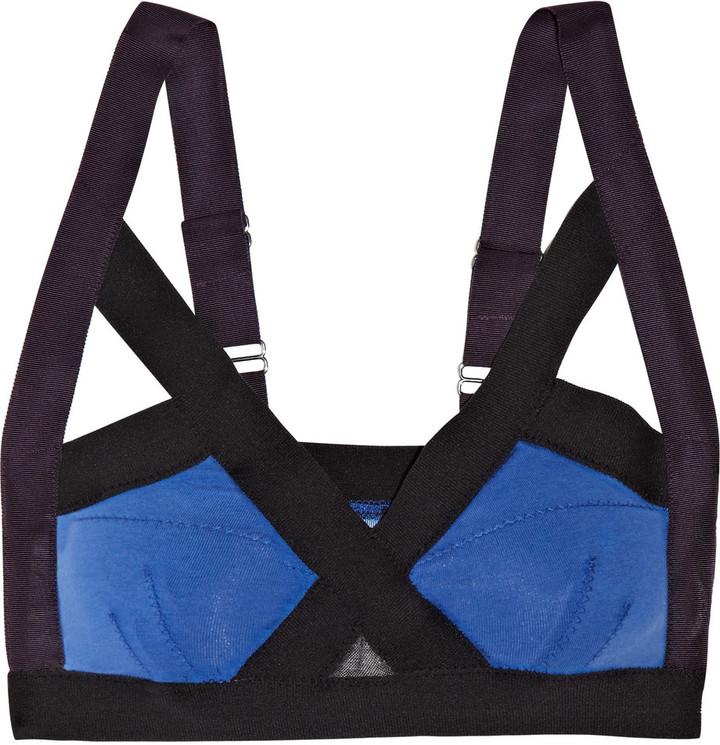 VPL Insertion stretch-cotton soft-cup bra