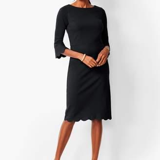 Talbots Refined Scallop-Edge Ponte Sheath Dress