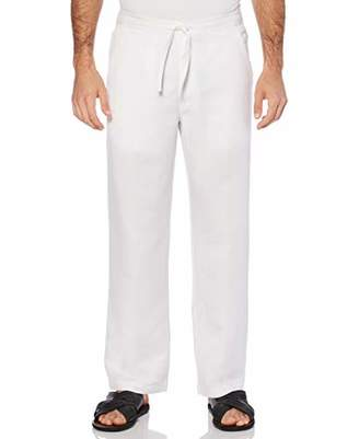 Cubavera Men's Big-Tall Linen Blend Flat Front Drawstring Pant