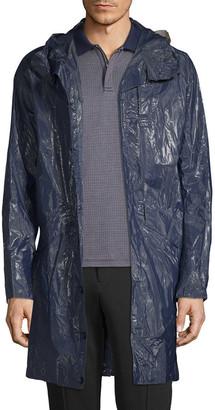 Engineered For Motion Crinkled Hooded Rain Coat