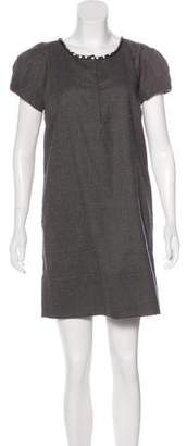 Robert Rodriguez Embellished Wool Dress