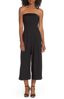Adelyn Rae Strapless Culotte Jumpsuit
