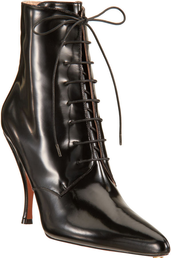 Rochas Pointed Toe Ankle Boot
