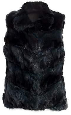 The Fur Salon Women's Sectioned Sable Fur Vest