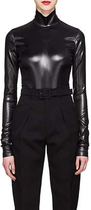 Givenchy Women's Coated Satin Bodysuit