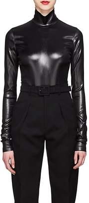 Givenchy Women's Coated Satin Bodysuit