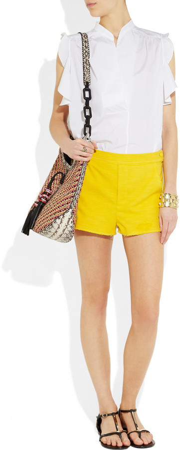 Band Of Outsiders Stretch cotton-tweed shorts