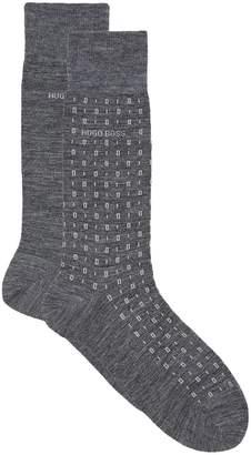 BOSS Patterned Wool Socks (Pack of 2)