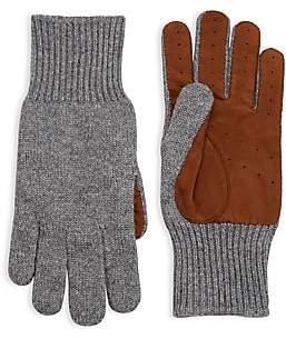 Brunello Cucinelli Cashmere Suede Panel Gloves