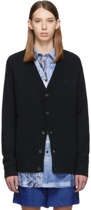 Acne Studios Black Wool Neve Face Raglan Cardigan