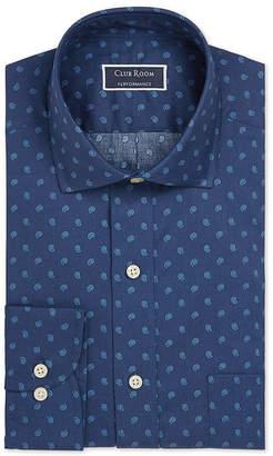Club Room Men's Classic/Regular Fit Stretch Pine Print Dress Shirt