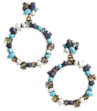 Women's Baublebar Bellflower Hoop Earrings $36 thestylecure.com