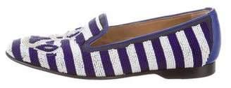 Donald J Pliner Embellished Smoking Loafers