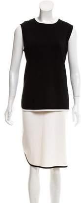 St. John Sleeveless Knee-Length Dress