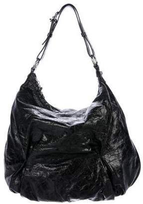 Francesco Biasia Patent Leather Hobo Bag