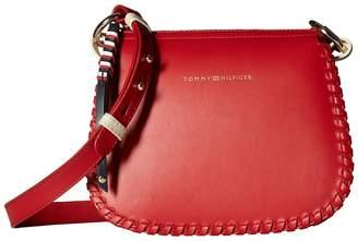 Tommy Hilfiger Stitch Leather Crossover Handbags