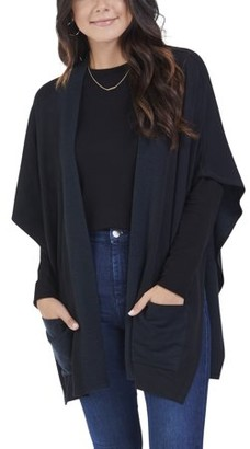 Fruit of the Loom Seek No Further by Women's Brushed Fleece Blanket Cape Cardigan