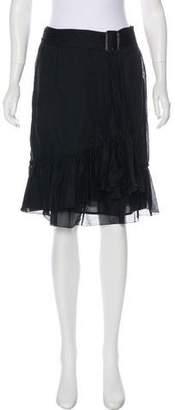Burberry Ruffled Knee-Length Skirt