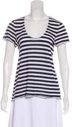 Rag & Bone Striped Short Sleeve Top