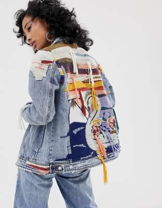 Blank NYC Liquid Summer tapestry denim jacket