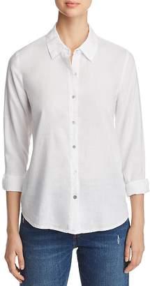 Eileen Fisher High/Low Button-Down Shirt