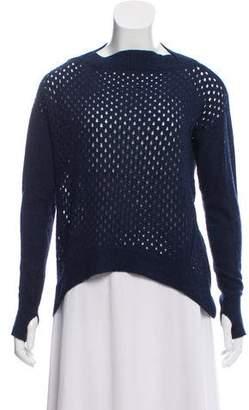 Rebecca Taylor Merino Wool-Blend Open Knit Sweater