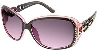 Southpole Women's 230sp-oxpk Rectangular Sunglasses