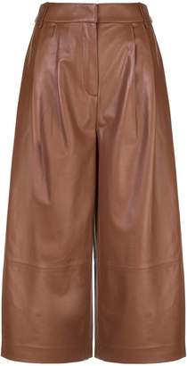 Tibi Stella leather cropped trousers