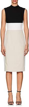 Narciso Rodriguez Women's Colorblocked Wool Sheath Dress - Black, Gry, Wht